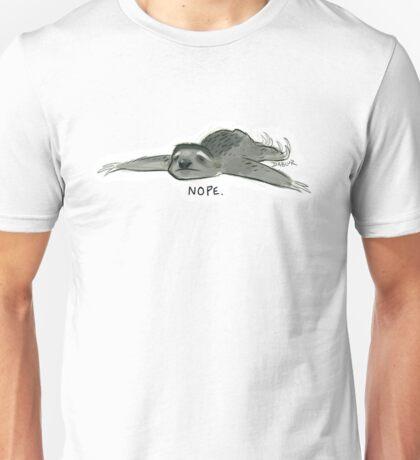 Nope Sloth Unisex T-Shirt