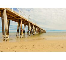 A peaceful autumn morning by the jetty (1) Photographic Print