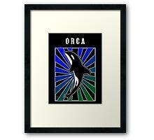Orca Rays Framed Print
