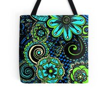 flowers abtract Tote Bag
