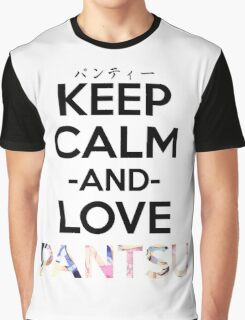 Keep Calm and Love Pantsu Anime Manga Shirt Graphic T-Shirt