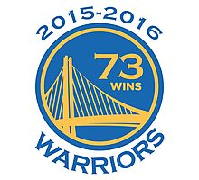 Golden State Warriors 73-9 Record NBA Photographic Print