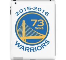 Golden State Warriors 73-9 Record NBA iPad Case/Skin