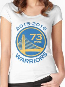 Golden State Warriors 73-9 Record NBA Women's Fitted Scoop T-Shirt