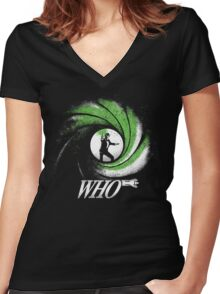 The Name's Who Women's Fitted V-Neck T-Shirt