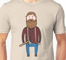 Lumberjack with an axe Unisex T-Shirt