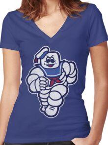 Marshmelin Man Women's Fitted V-Neck T-Shirt