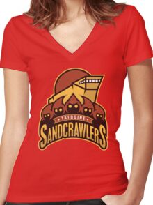 Tatooine SandCrawlers Women's Fitted V-Neck T-Shirt