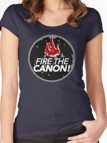 Fire The Canon Women's Fitted Scoop T-Shirt