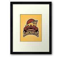 Tatooine SandCrawlers Framed Print