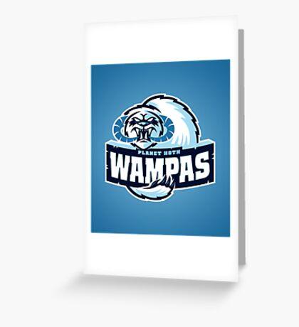 Planet Hoth Wampas Greeting Card