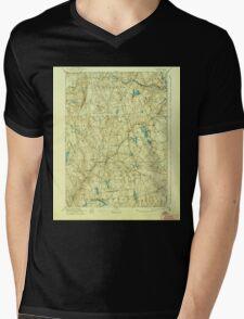 USGS TOPO Map Connecticut CT Gilead 331031 1892 62500 Mens V-Neck T-Shirt