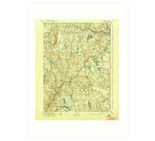 USGS TOPO Map Connecticut CT Gilead 331031 1892 62500 Art Print