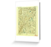 USGS TOPO Map Connecticut CT Gilead 331031 1892 62500 Greeting Card