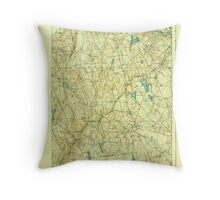 USGS TOPO Map Connecticut CT Gilead 331031 1892 62500 Throw Pillow