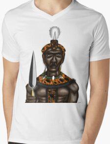 King Shaka Zulu (Small Print) Mens V-Neck T-Shirt