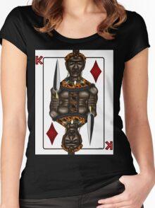 African King Series - Shaka Zulu King of Diamonds Women's Fitted Scoop T-Shirt