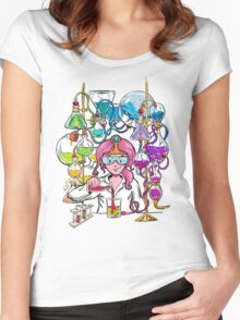 Science With Princess Bubblegum Women's Fitted Scoop T-Shirt