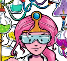 Science With Princess Bubblegum Sticker