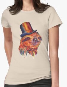 Dapper Sloth Womens Fitted T-Shirt
