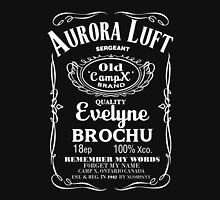 Aurora Luft - Xcompany -Jack Daniel's style Womens Fitted T-Shirt