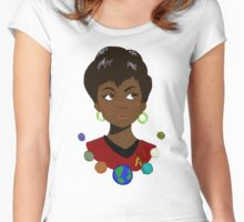 Uhura and Planets Women's Fitted Scoop T-Shirt