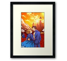 Ten and Rose on Gallifrey Framed Print