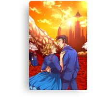 Ten and Rose on Gallifrey Canvas Print