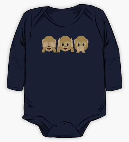 Three Wise Monkeys One Piece - Long Sleeve