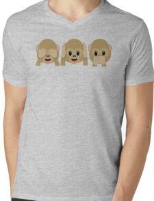 Three Wise Monkeys Mens V-Neck T-Shirt