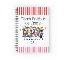 Team Endless Ice Cream 2016 Spiral Notebook