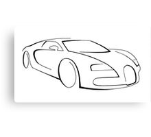 Bugatti Veyron graphic (Black) Canvas Print