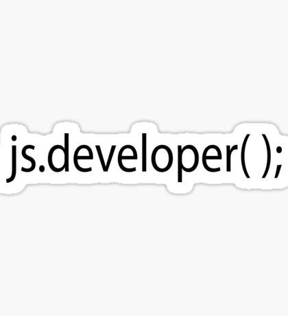 js.developer( ); Sticker