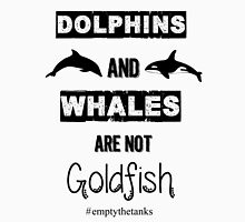 Dolphins and Whales are not Goldfish Unisex T-Shirt