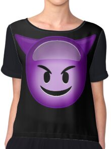 Evil Purple Chiffon Top