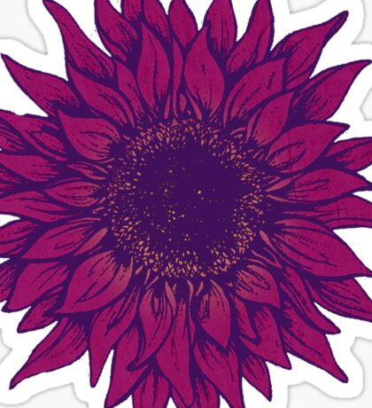 Purple flower Sticker
