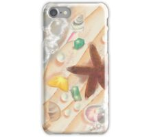 The Sea, with Emeralds, Pearls and a Starfish iPhone Case/Skin