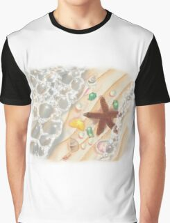 The Sea, with Emeralds, Pearls and a Starfish Graphic T-Shirt