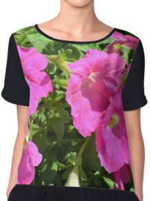 Pink flowers natural background. Chiffon Top