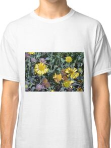 Yellow flowers in the garden. Classic T-Shirt