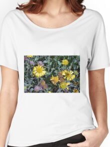 Yellow flowers in the garden. Women's Relaxed Fit T-Shirt