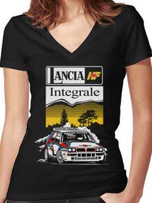 LANCIA INTEGRALE : GIFT Women's Fitted V-Neck T-Shirt