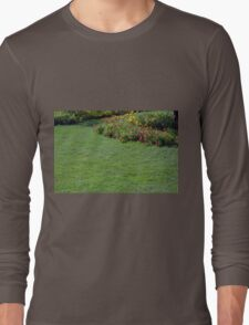 Green lawn and small flowers. Long Sleeve T-Shirt