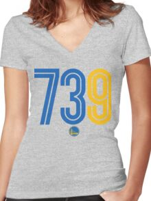 Warriors 73 and 9 Women's Fitted V-Neck T-Shirt