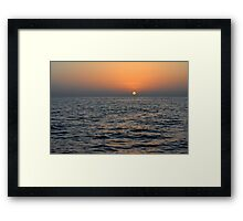 Sunset at the sea. Framed Print