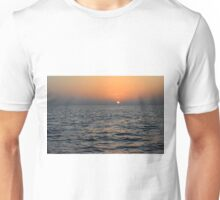 Sunset at the sea. Unisex T-Shirt