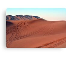 Sand dunes natural desert background. Canvas Print