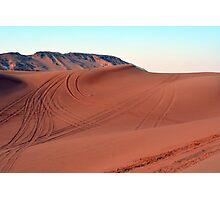 Sand dunes natural desert background. Photographic Print