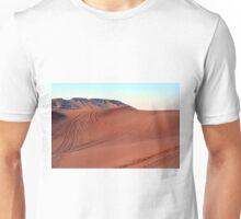 Sand dunes natural desert background. Unisex T-Shirt