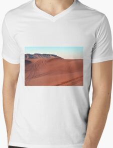 Sand dunes natural desert background. Mens V-Neck T-Shirt